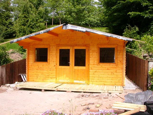 Self Build House Garden Log Cabin Construction