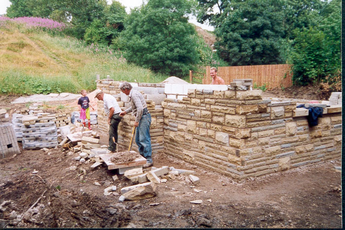 Glenns self build house for How to build a stone cottage